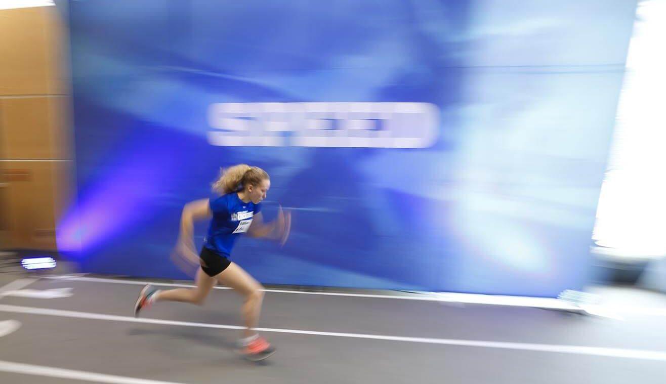 RBC Training ground athlete participates in sprint test
