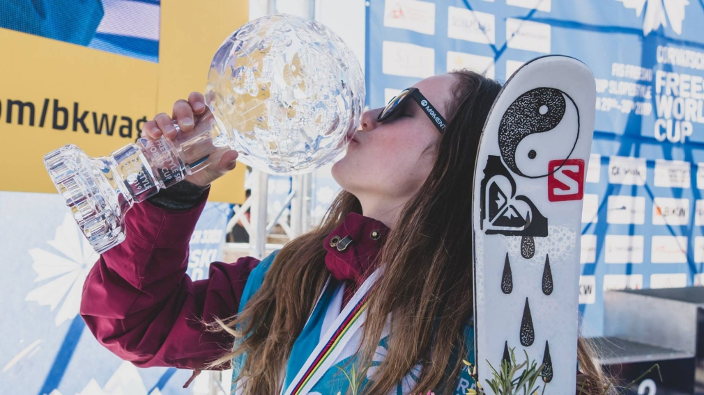 Megan Oldham wins first World Cup gold and slopestyle Crystal Globe