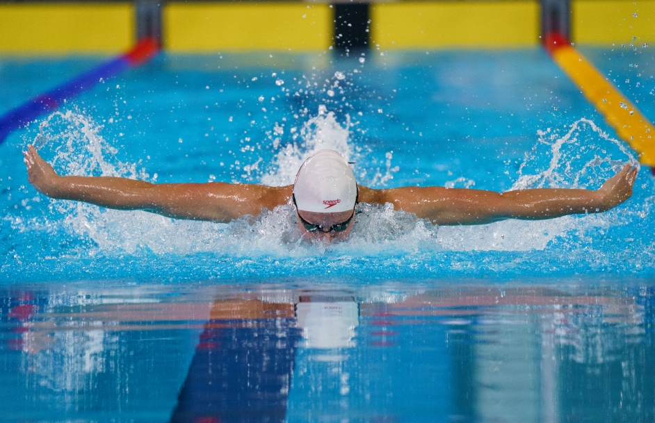 Bailey Andison of Canada competes in the women's 200m individual medley final at the Lima 2019 Pan American Games