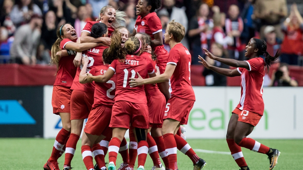 Concacaf Championship standing between women's soccer and Tokyo 2020