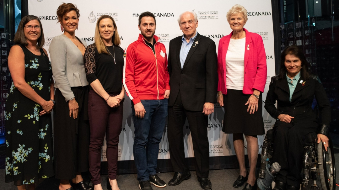 Canada Sports Hall of Fame inductees posing for photo