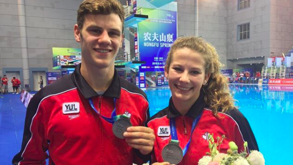 Diving: Canada claims bronze in mixed 10m synchro in Russia