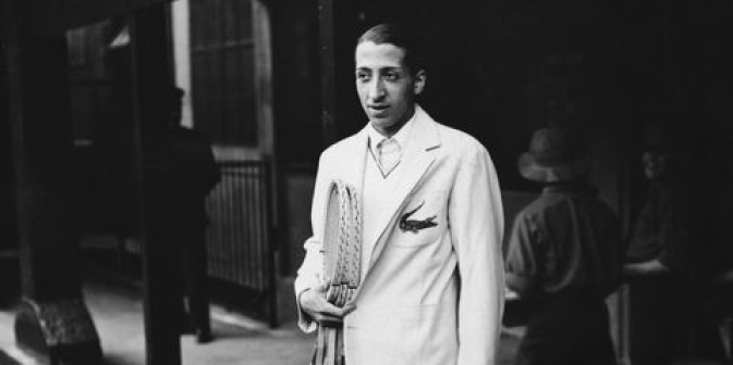 René Lacoste poses for the cameras