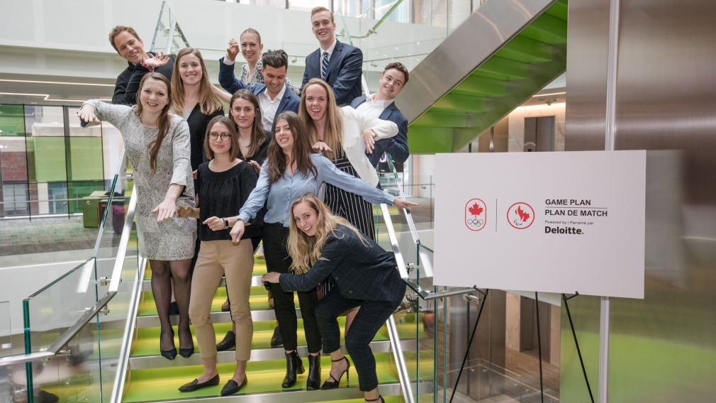 Team Canada athletes experience second annual Game Plan Day at Deloitte
