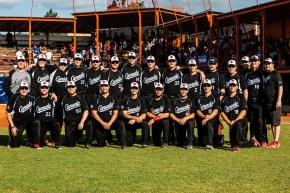 Camada men's softball team posing