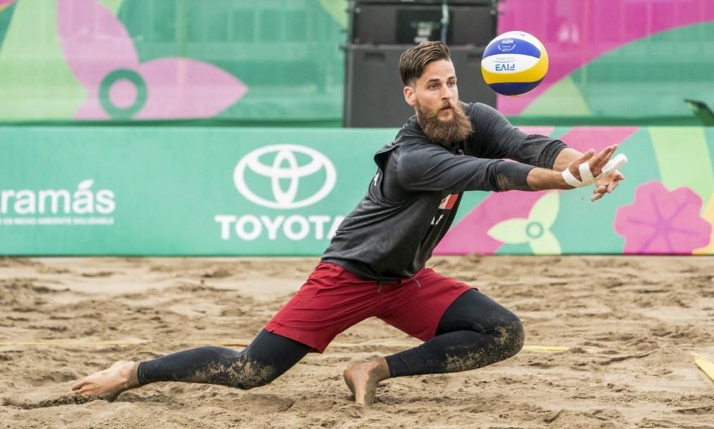 Michael Plantinga digs ball