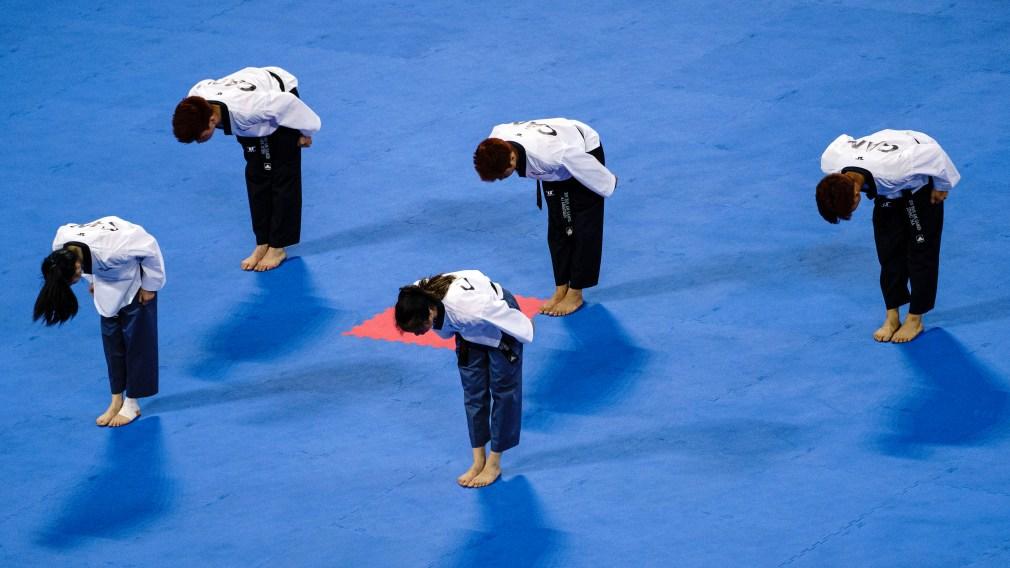Mark Bush bowing