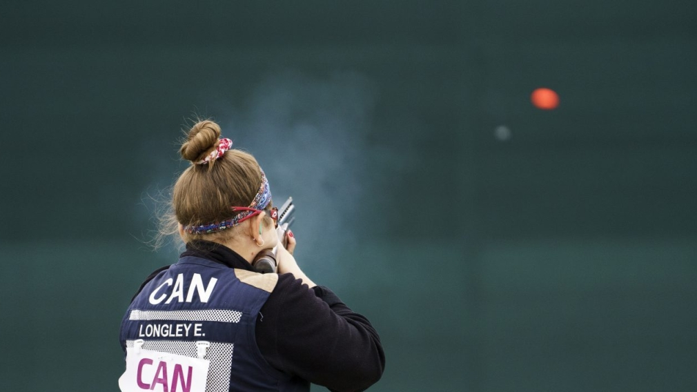 Elizabeth Longley competes in women's trap shooting