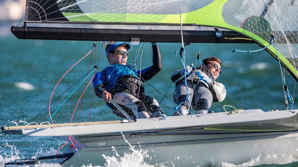 Alexander Heinzemann and Justin Barnes sail to bronze at the 2019 Pan Am Championships.