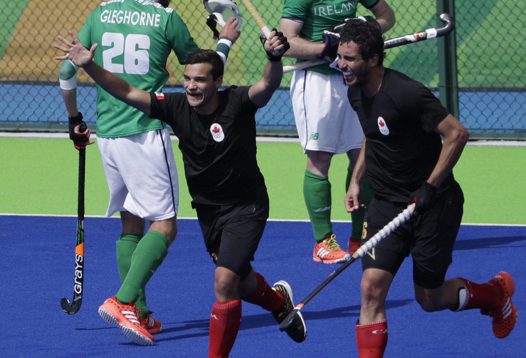 Team Canada plays in the men's field hockey tournament at Rio 2016