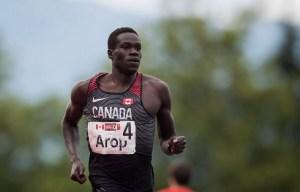 Marco Arop running