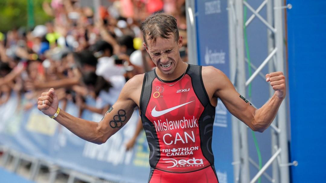 Tyler Mislawchuk celebrating