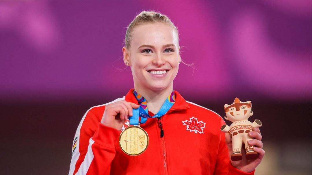 Ellie Black with medal