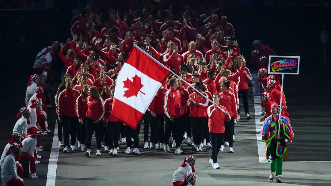 Canadian athletes are introduced at Lima 2019