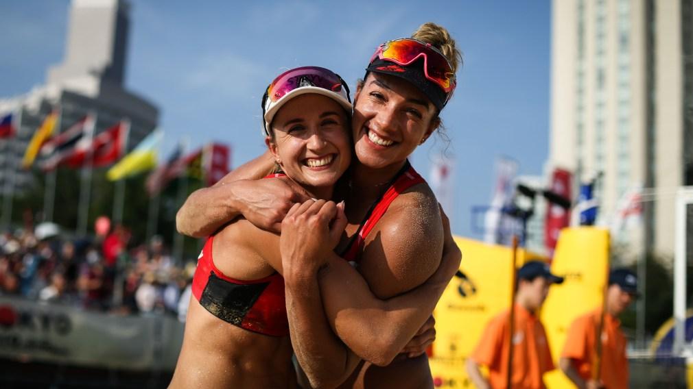 Heather Bansley and Brandie Wilkerson hug