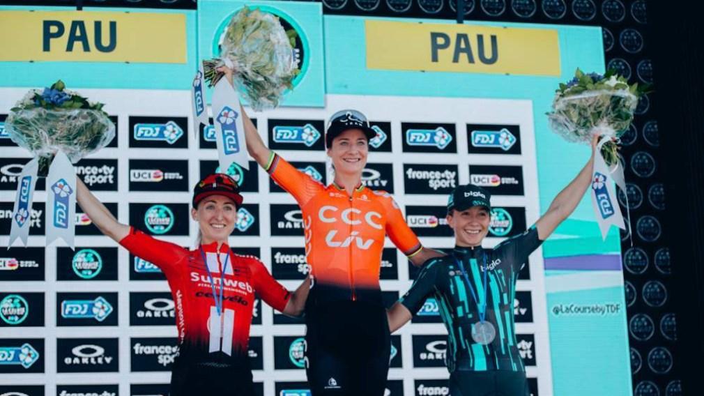 Leah Kirchmann wins silver at La Course by Le Tour de France