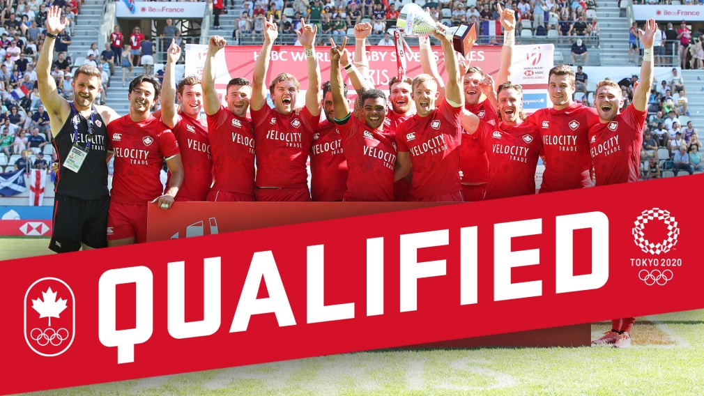 Team Canada Men's Rugby Sevens. Edited graphic to be used for their Tokyo 2020 Qualification.