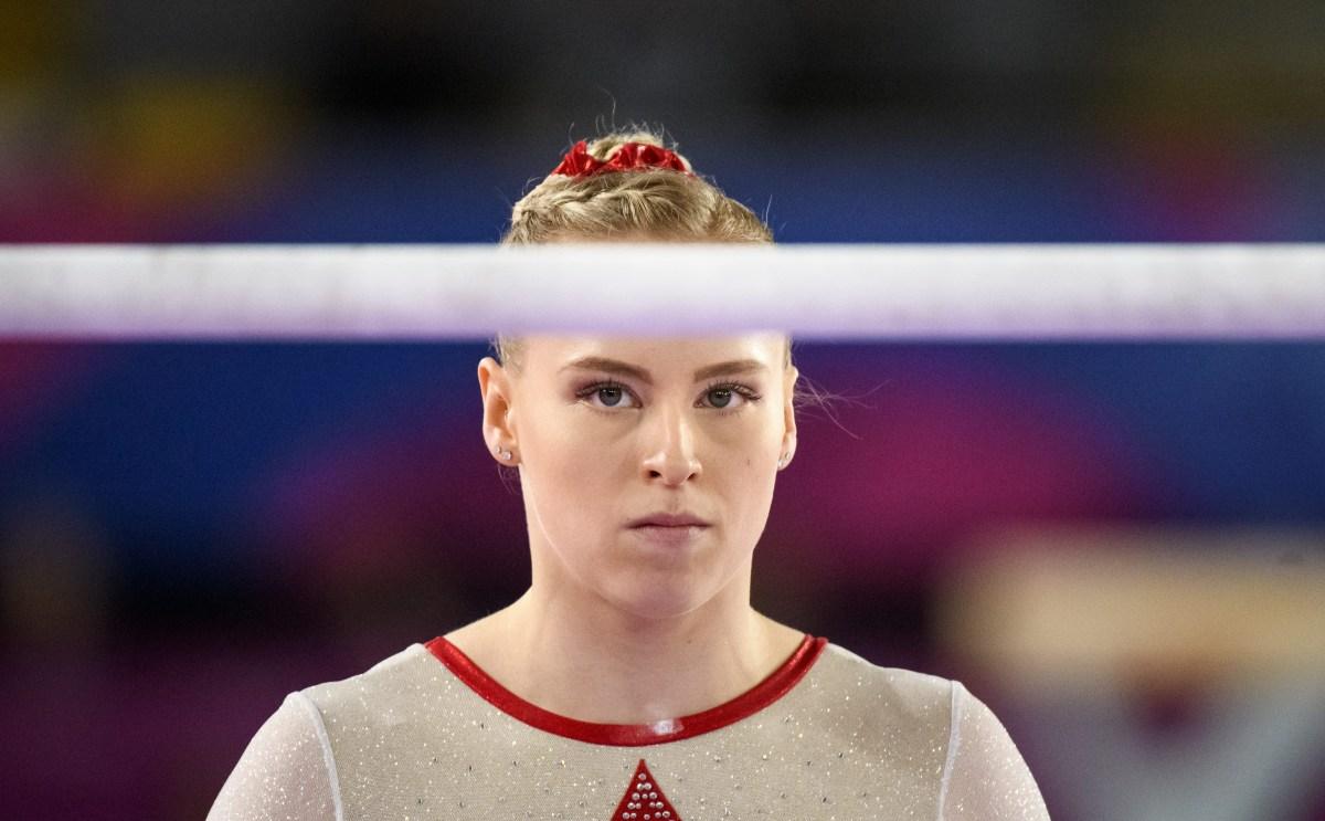 Ellie Black competing in artistic gymnastics