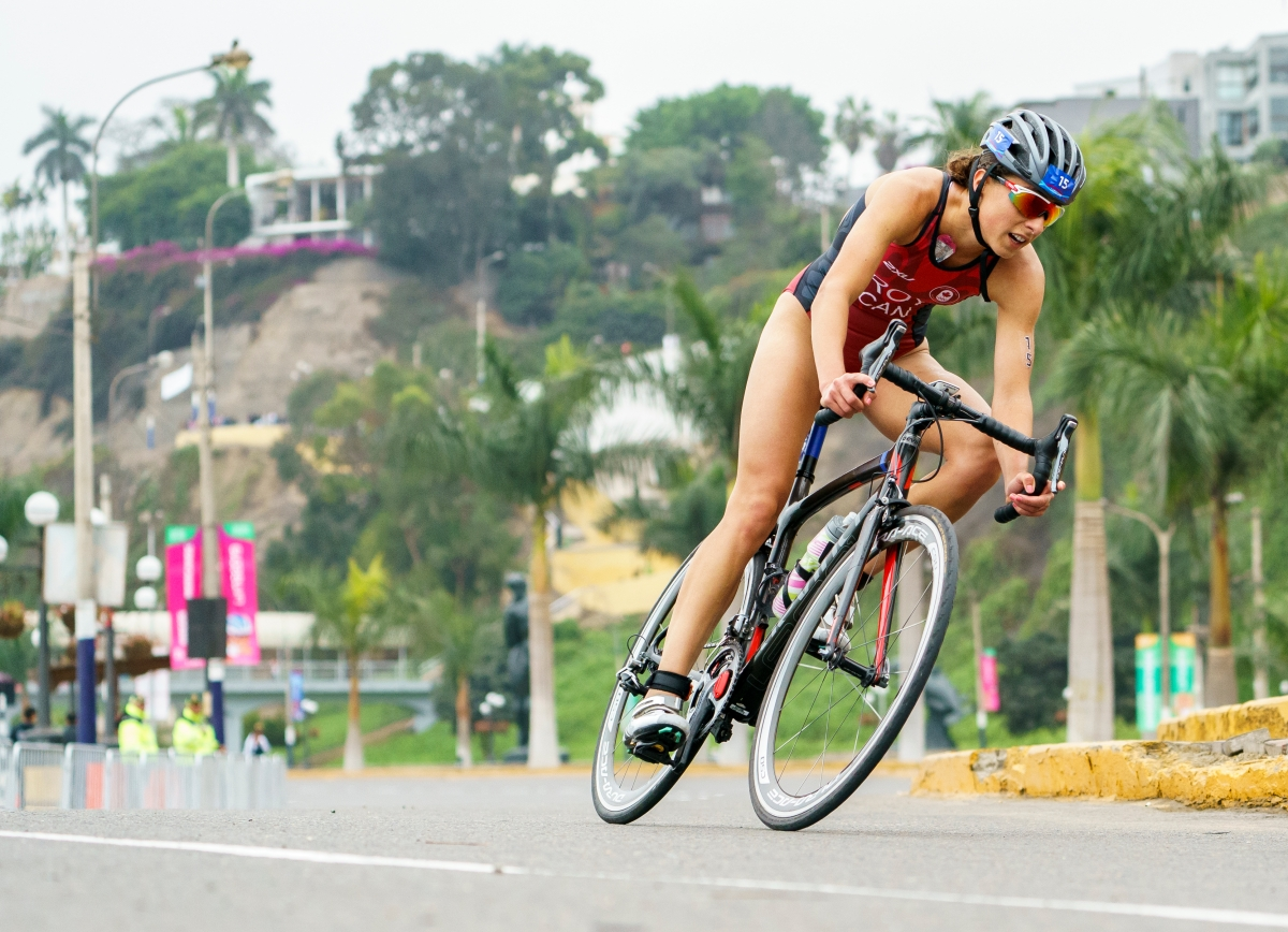 triathlete on the bike