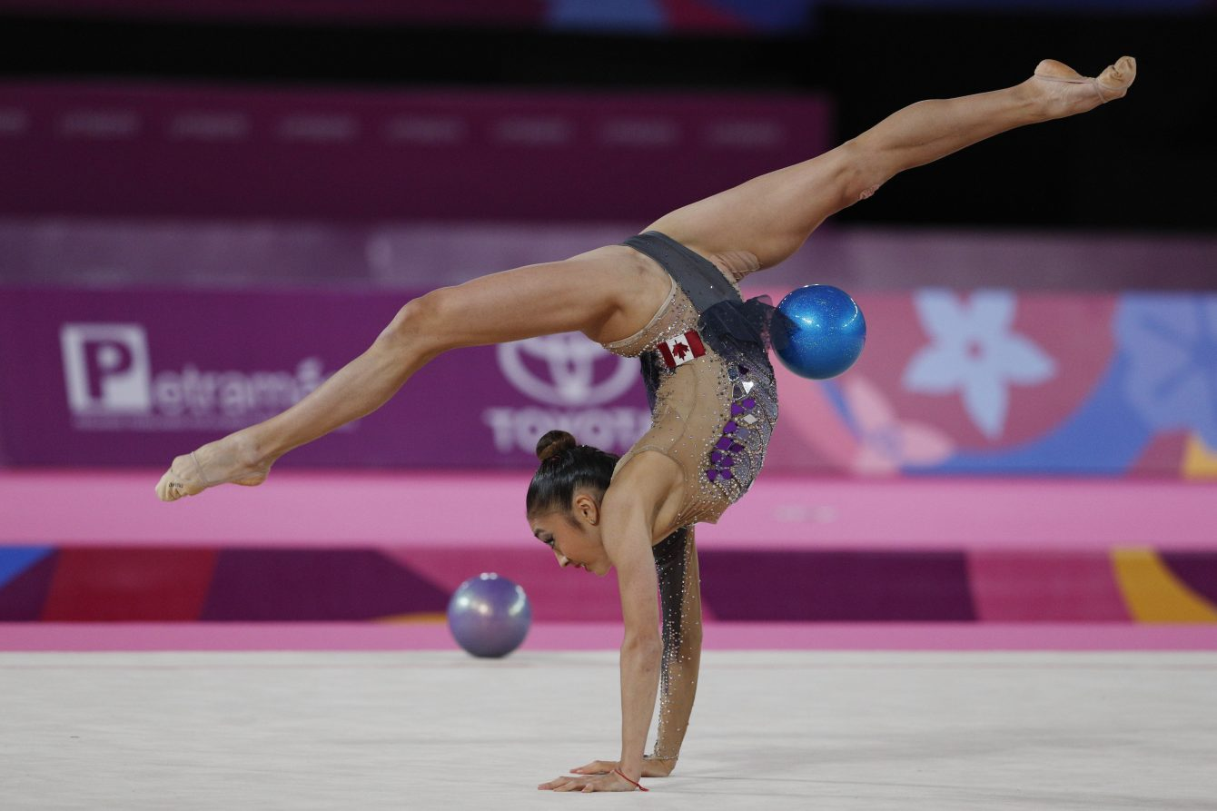 Katherine competes in Ball at Lima 2019