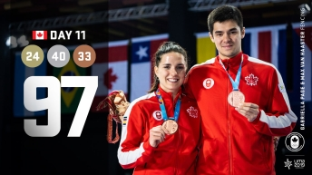 Lima Day 11 Recap, athletes pose with medals