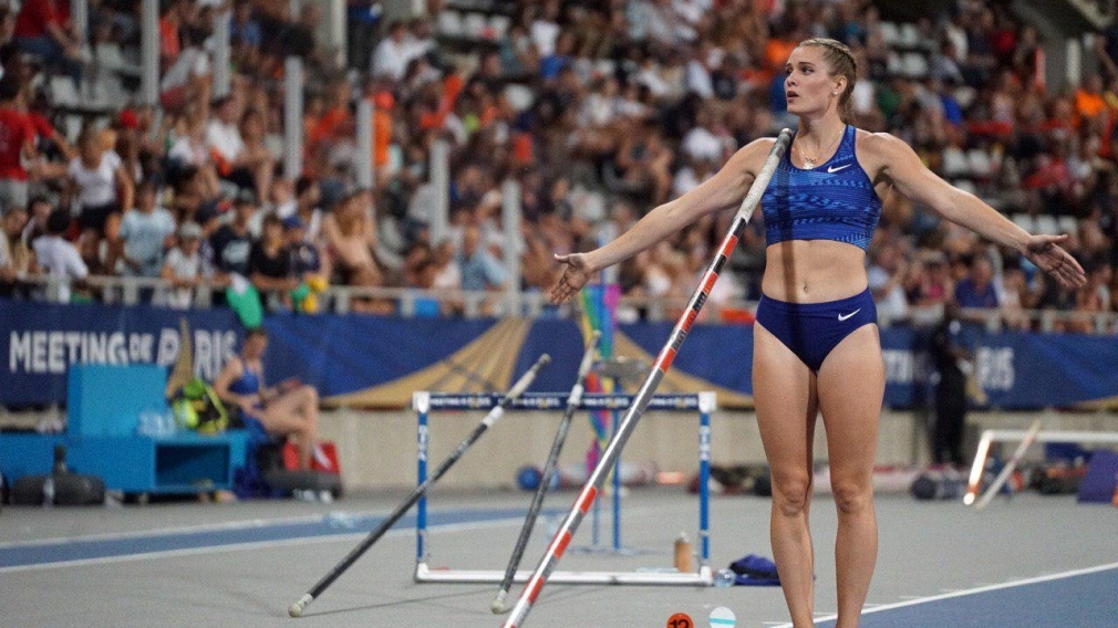 Alysha Newman finished first in pole vault. Newman cleared a national record of 4.82m on her third attempt to win in Paris. Saturday August 24, 2019. Photo by IAAF Diamond League.
