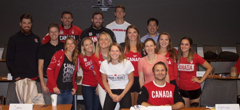Team Canada athletes participating in Head to Head