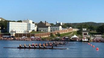 Rowing shells on Quidi Vidi Lake for the Royal St. John's Regatta
