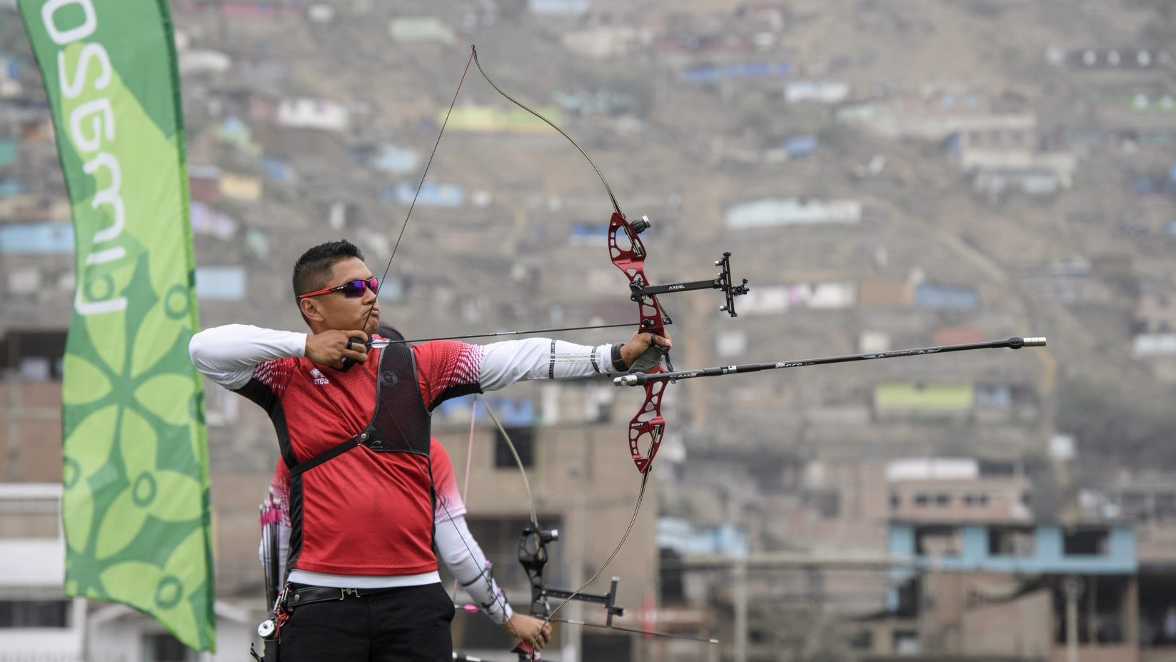 Crispin Duenas competes in archery at Lima 2019