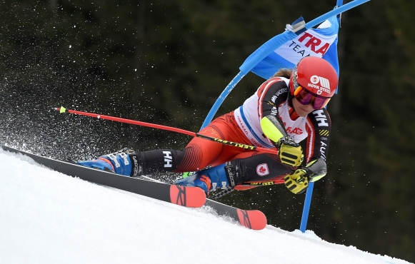 Marie-Michele Gagnon competes in alpine skiing