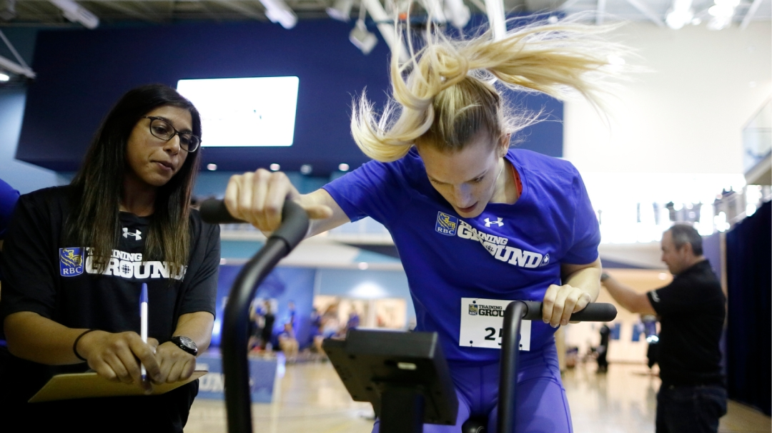 Canadian Olympian training at RBC event