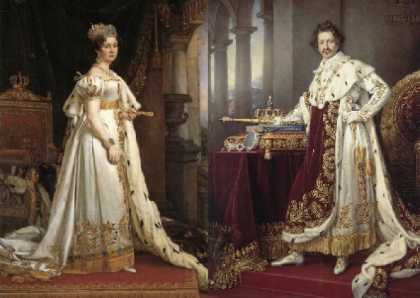 Portrait of the marriage of Princess Therese of Saxe-Hildburghausen to Prince Ludwig