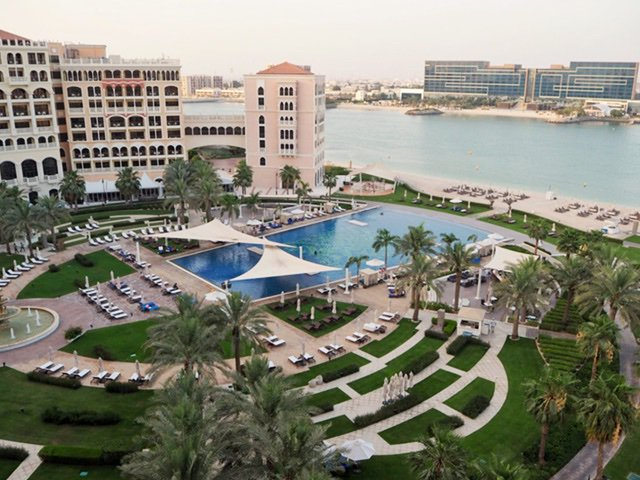 View of the Ritz Carlton in Doha