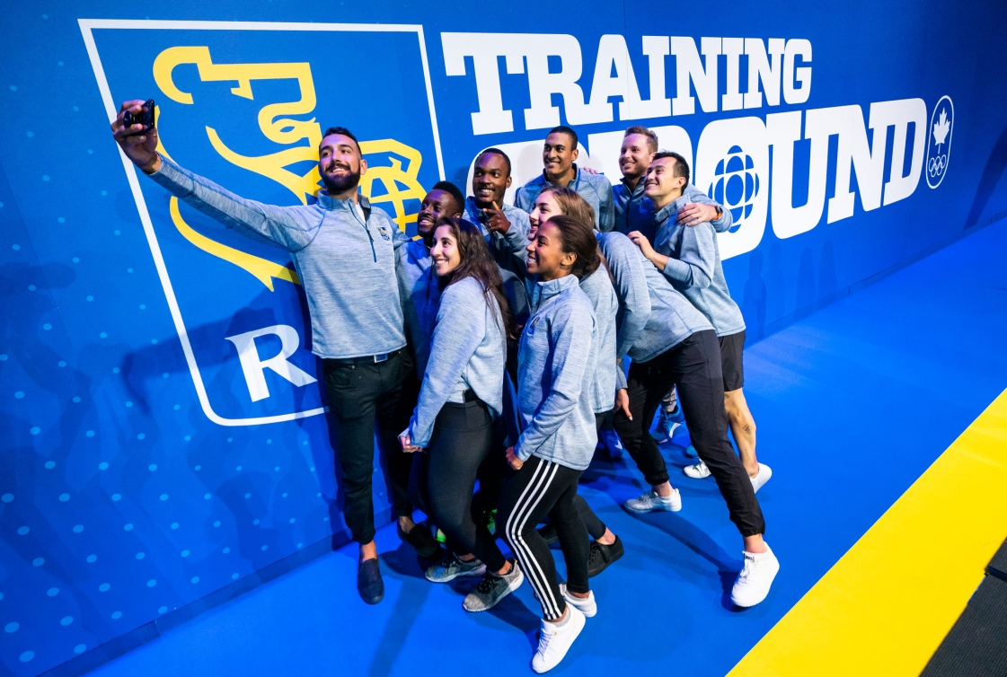 RBC training athletes posing for a selfie