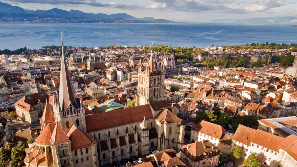 City scenic of Lausanne