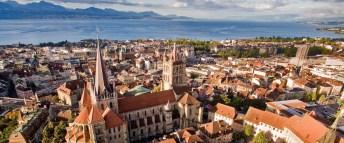 City scenic of Lausanne