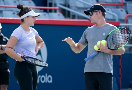 Bianca Andreescu with her coach