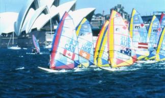 Caroll-Ann Alie racing at Sydney 2000