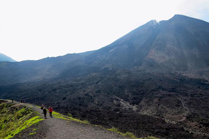 View of volcano.