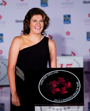 Christine Sinclair at Canada's Walk of Fame ceremony