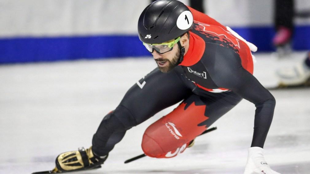 Charles Hamelin skating