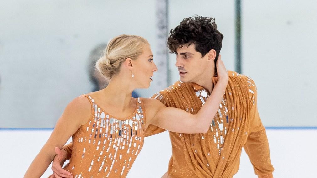 Gilles and Poirier win silver at ISU Grand Prix in Russia