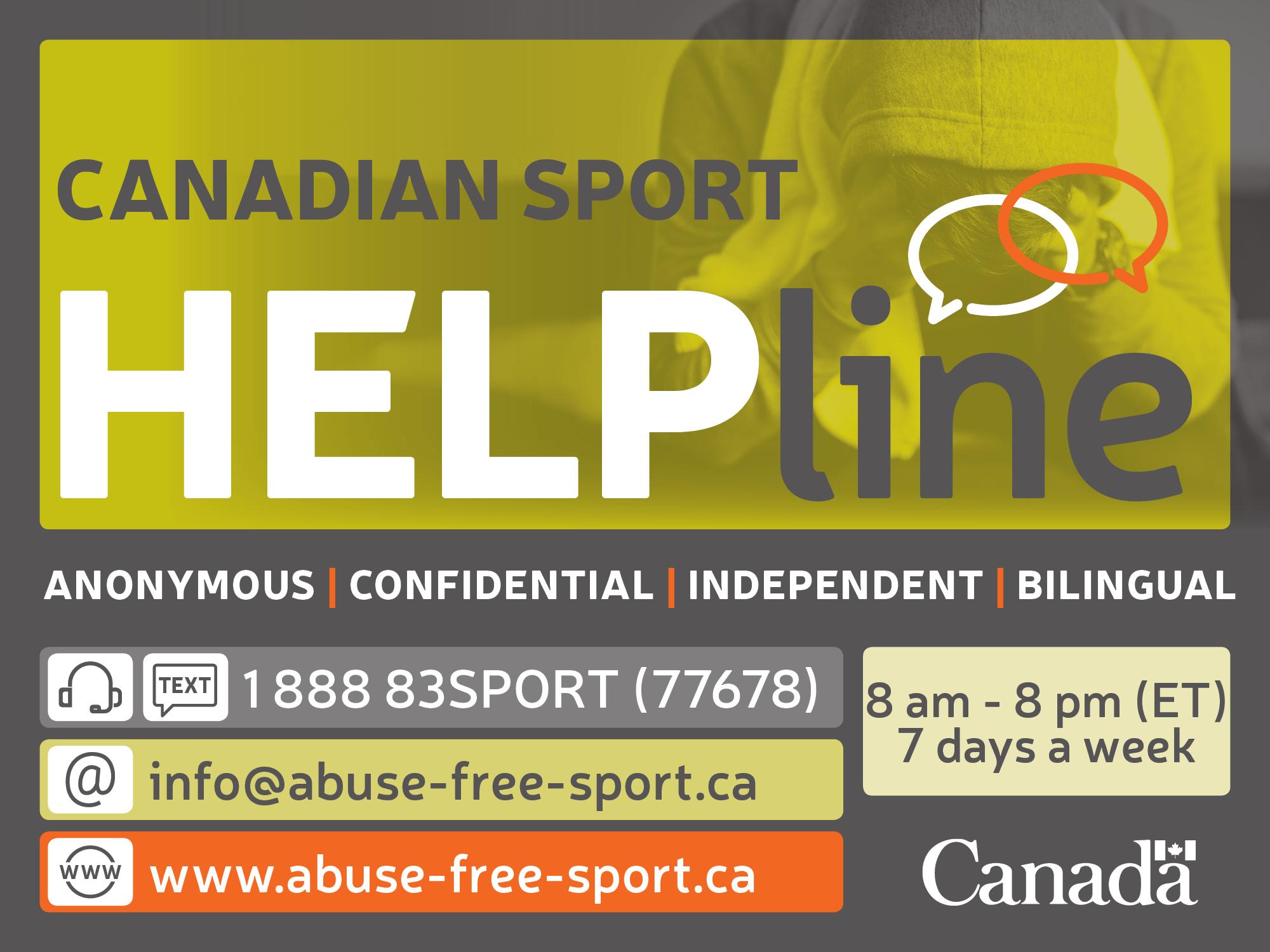 Contact the Safe Sport Helpline