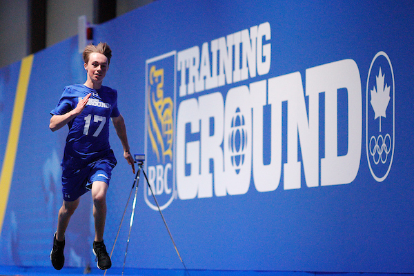 Miha Fontaine competes at the 2019 RBC Training Ground Final