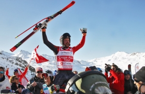 Mahler, returning from injury, battled through the quarter-final and semi-final heats and led for the entire final run to achieve his first World Cup podium and victory in Val Thorens, France. Saturday Dec 7, 2019. (Picture by: GEPA)