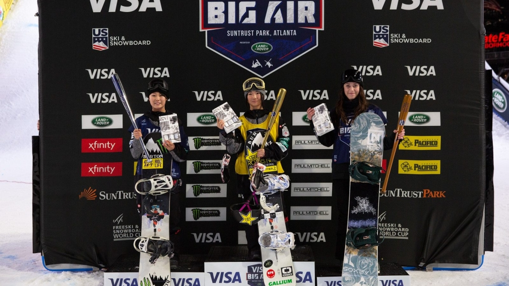 Snowboard Finals 2019 Visa Big Air presented by Land Rover at SunTrust Park, Atlanta. Brooke Voigt won bronze in the women's competition on December 20th, 2019.