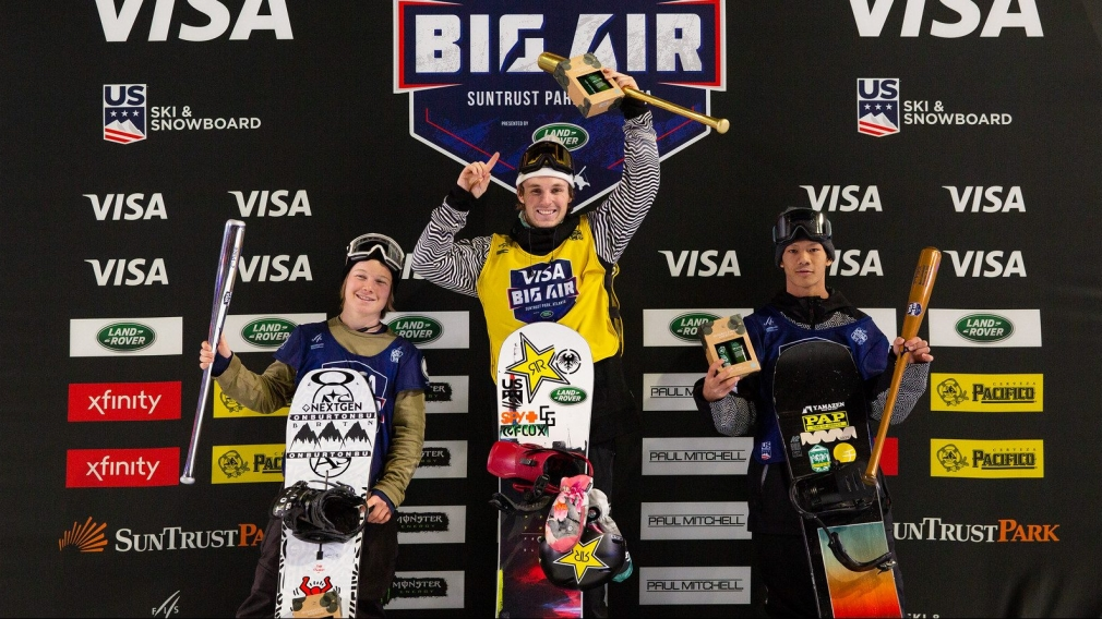 Snowboard Finals 2019 Visa Big Air presented by Land Rover at SunTrust Park, Atlantar on December 20th, 2019. Team Canada's Nicolas Laframboise took home silver. Photo: U.S. Ski & Snowboard.