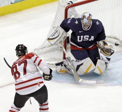 Sidney Crosby scores a goal