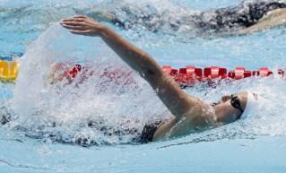 Sydney Pickrem swims the 200 medley.