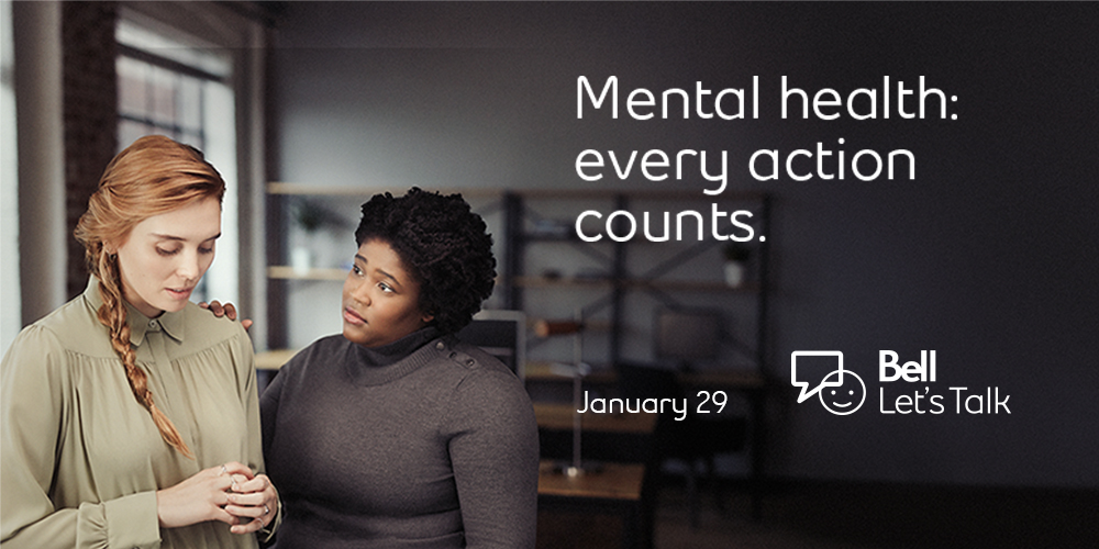 Bell Let's Talk Day January 29th - Mental health: every action counts